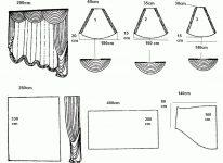 Как кроить шторы ламбрекены