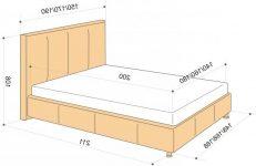 Ширина двуспальной кровати стандарт