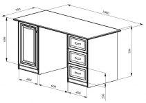 Ширина письменного стола стандарт