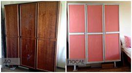 Как покрасить старый лакированный шкаф