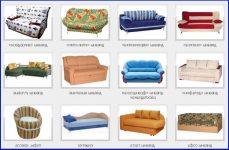 Разновидности диванов названия
