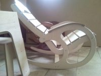 Лекало для кресла качалки из фанеры