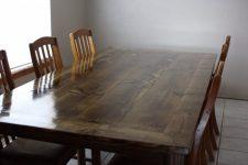 Чем покрыть кухонный стол из дерева