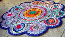 Вязание крючком кружки на пол из ткани