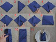Как свернуть салфетку для сервировки стола