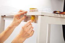 Как закрепить клеенку на кухонном столе
