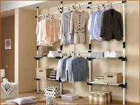 Открытый шкаф для одежды без дверей