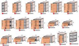 Размеры верхних шкафов кухни стандарт