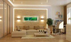 Как оформить стену в зале над диваном